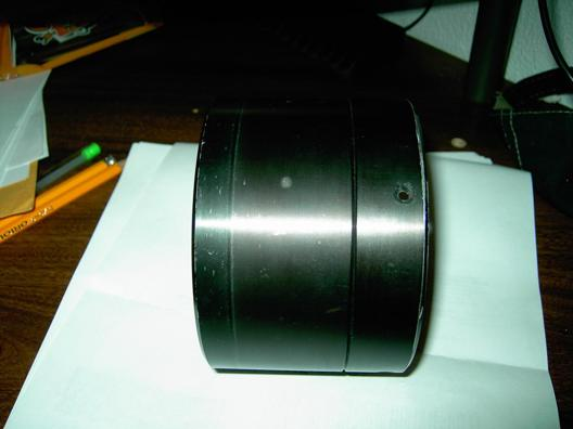 "Jaegers 4""-inch f/8.25 Fully-Coated Mounted Achromatic Objective Lens. Side View."