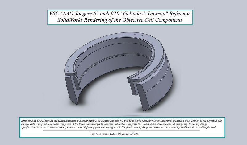 "SolidWorks cross-section rendering of Objective Cell for the VSC /SAO Jaegers 6"" ""GJD"" Refractor. (Click to see an enlarged image.)"