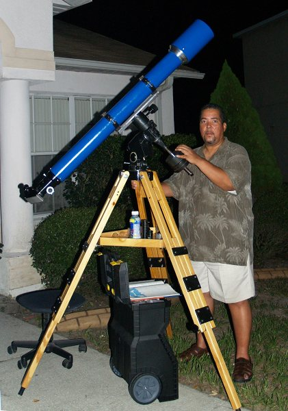 First Light setup in front of my home on July 10, 2010. Click for an enlarged image.