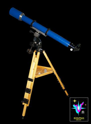 Click to see an enlarged MS Paint rendering of the VSC/ SAO/ BGRP 127mm f/9.4 Refractor!